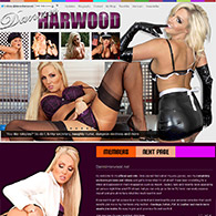 Dannii Harwood in latex