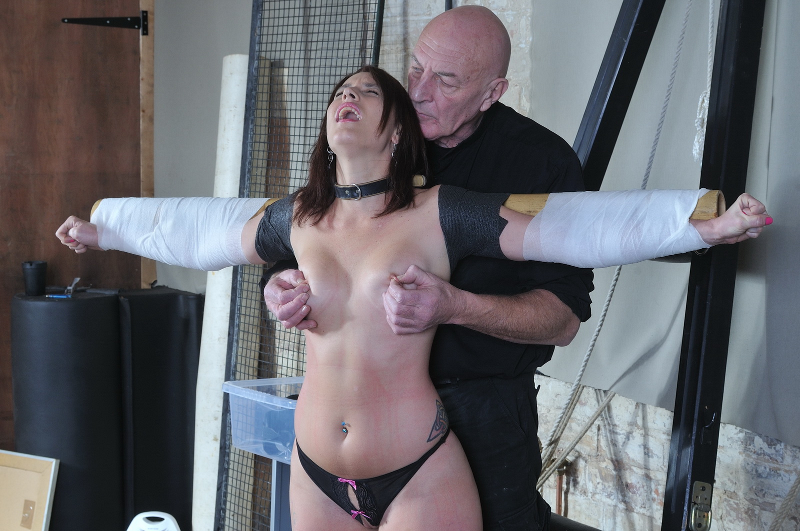 BDSM Brutal Use Of Two Busty Slave In A Hardcore Daily Sub Fuck